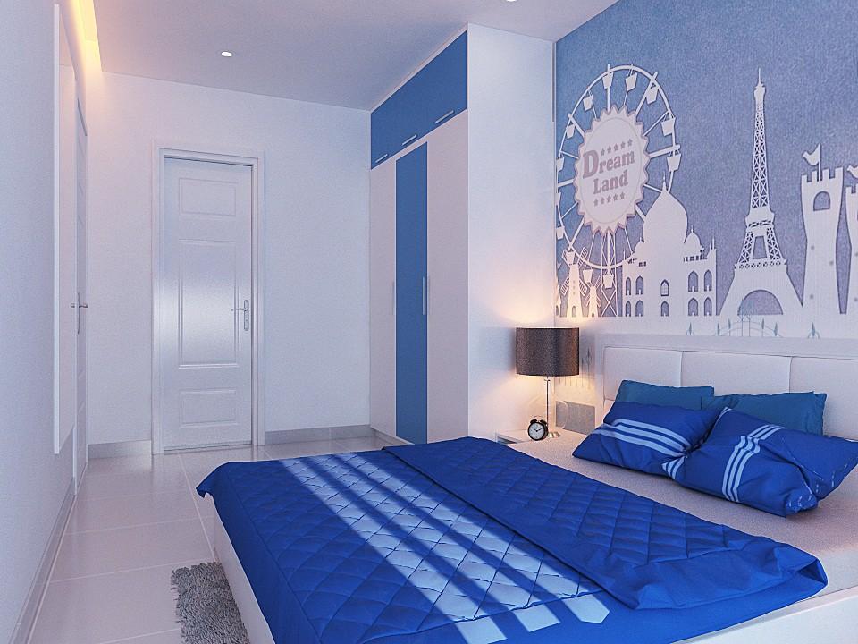 Làm mới phòng bạn với gam màu xanh dương mát mẻ cho mùa hè oai bức